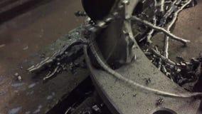 Worker Drilling Metal. Industrial video stock footage