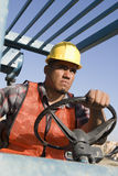 Worker Driving Bulldozer Stock Photography