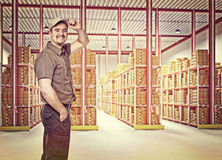 Worker on duty Royalty Free Stock Photography