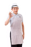 Worker, employer with ok hand gesture Royalty Free Stock Photo
