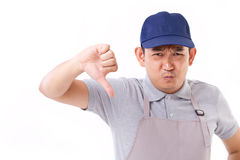 worker, employer with thumb down Royalty Free Stock Images