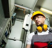 Worker on a factory royalty free stock photo
