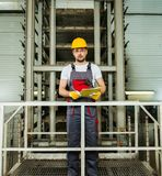 Worker on a factory Stock Photo