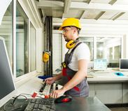 Worker on a factory royalty free stock photos