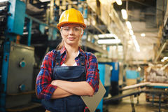 Worker in the factory Stock Photos