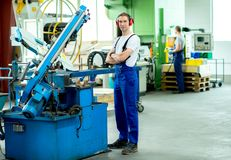 Worker in factory Stock Photography