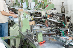 Worker in the factory of special-purpose machines Royalty Free Stock Images