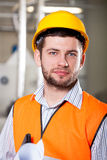 Worker in factory royalty free stock photo