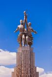 Worker and female collective-farm worker statue Royalty Free Stock Photo