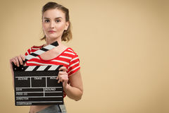 Worker film industry Royalty Free Stock Image