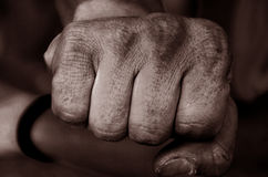 Worker  fist Royalty Free Stock Photo