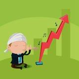 Worker Flute Stock Market Up Vector. Worker Flute Stock Market Up Stock Photos
