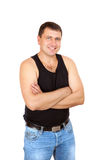 The worker folded arms Royalty Free Stock Photos