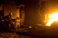 Worker in foundry Royalty Free Stock Photography