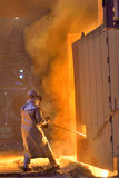 Worker in a foundry Stock Images