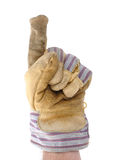 Worker Giving the Number One Sign Royalty Free Stock Photo