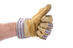 Worker Giving the Thumbs Up Sign Stock Photography