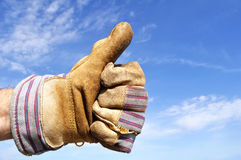 Worker Giving the Thumbs Up Sign Royalty Free Stock Photo