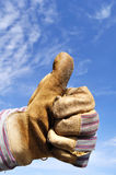 Worker Giving the Thumbs Up Sign Royalty Free Stock Photos