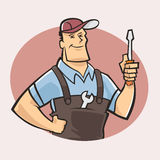 Worker guy Stock Image