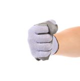 Worker hand glove clenching fist. Stock Photography