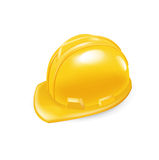 Worker hard hat isolated on white Stock Photos