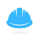 Worker hard hat vector icon. On white background Royalty Free Stock Photography