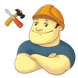 Worker with hardhat helmet Stock Images