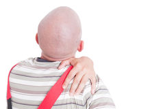 Worker having shoulder pain Royalty Free Stock Photos
