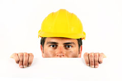 Worker helmet Stock Images