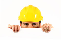 Worker helmet Stock Photography