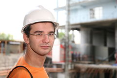 Worker in the helmet Royalty Free Stock Photos