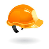 Worker helmet isolated. Illustration of worker safety helmet on building sites Stock Images