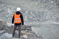 Worker in a helmet Royalty Free Stock Images