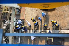 Worker high view Stock Photography
