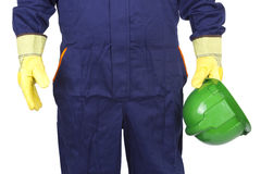 Worker with his helmet Royalty Free Stock Images