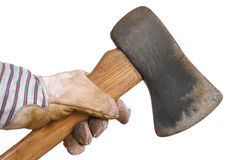 Worker Holding an Ax Stock Images