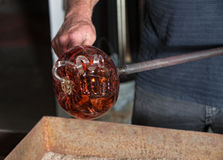Fancy Glass Pumpkin Artwork Stock Photos