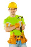 A worker holding hammer Stock Photos
