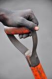 Worker Holding Shovel Stock Images