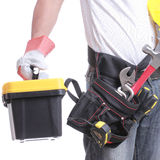 Worker  holding tool Stock Photography