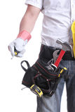 Worker holding tool Royalty Free Stock Photography