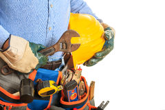 Worker holding a wrench Stock Photography