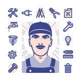 Worker Icon set Stock Photo