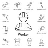 Worker icon. Simple element illustration. Worker symbol design from Construction collection set. Can be used for web and mobile royalty free illustration
