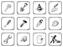 Worker icons Royalty Free Stock Photos