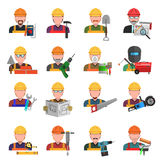 Worker Icons Set Royalty Free Stock Photos