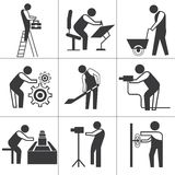 Worker icons Royalty Free Stock Images