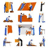 Worker Icons Set Stock Photo