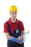 Worker instructions form Royalty Free Stock Image